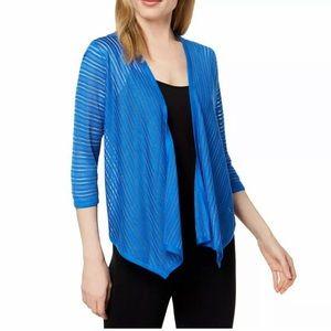 ALFANI  Stormy Sea Blue Cardigan Sweater Medium